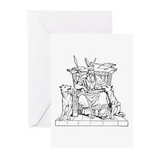 Odin on Hlidskjalf Greeting Cards (Pk of 10)