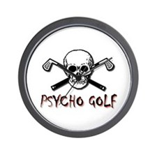 Psycho Golf Wall Clock