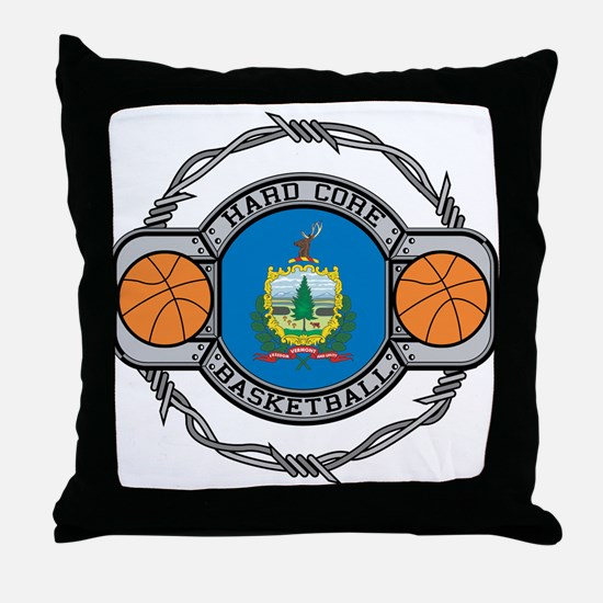 Vermont Basketball Throw Pillow