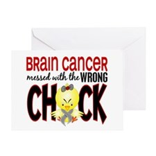 Brain Cancer Messed With Wrong Chick Greeting Card