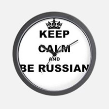 KEEP CALM AND BE RUSSIAN Wall Clock