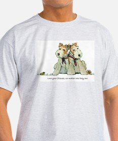 Fox Terriers and Friends Ash Grey T-Shirt