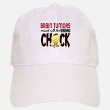 Brain Tumors Messed With Wrong Chick Baseball Baseball Cap