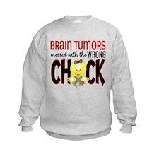 Brain Tumors Messed With Wrong Chick Sweatshirt