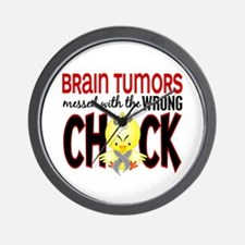 Brain Tumors Messed With Wrong Chick Wall Clock