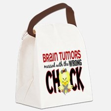 Brain Tumors Messed With Wrong Chick Canvas Lunch