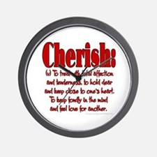 Cherish Definition Wall Clock