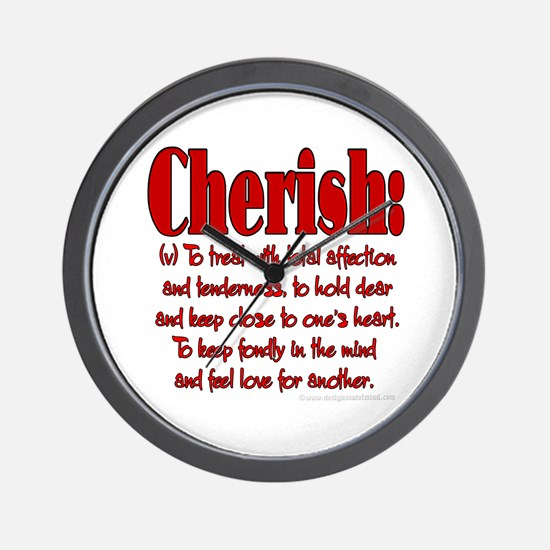 Cherish Definition Wall Clock