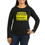 Warning! Overly Caucasian Women's Long Sleeve Dark