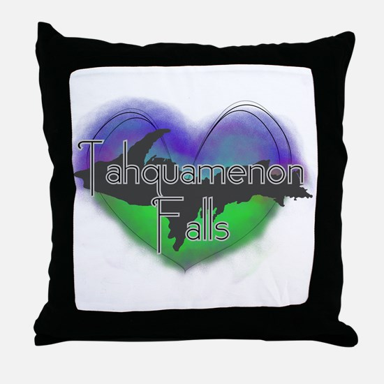 Aurora Tahquamenon Falls Throw Pillow