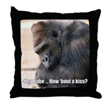 How 'Bout a Kiss Throw Pillow