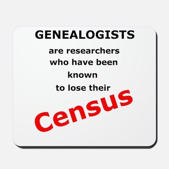 Red Losing Census Mousepad