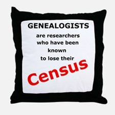 Red Losing Census Throw Pillow