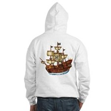 Pirate Ship with Stripes Jumper Hoody