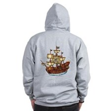 Pirate Ship with Stripes Zip Hoody