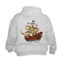 Pirate Ship with Stripes Hoody