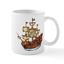 Pirate Ship with Stripes Mug