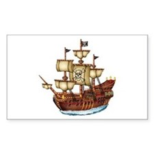 Pirate Ship with Stripes Decal