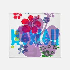 Hawaii Hibiscus Throw Blanket