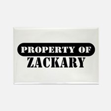 Property of Zackary Rectangle Magnet