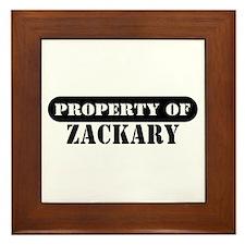 Property of Zackary Framed Tile