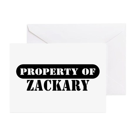 Property of Zackary Greeting Cards (Pk of 10)