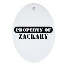 Property of Zackary Oval Ornament