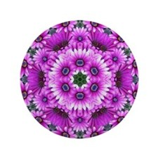 "Purple Aster Kaleidoscope 3.5"" Button"