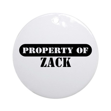 Property of Zack Ornament (Round)