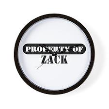 Property of Zack Wall Clock