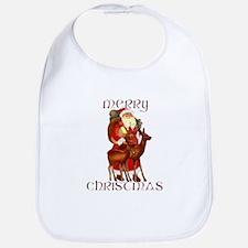 Santa and Reindeer design Bib