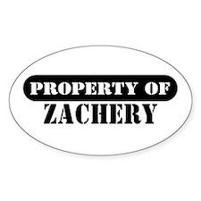 Property of Zachery Oval Decal