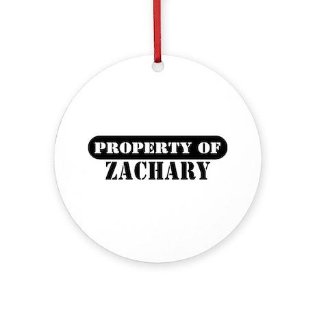 Property of Zachary Ornament (Round)