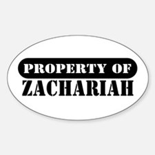Property of Zachariah Oval Decal