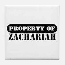 Property of Zachariah Tile Coaster