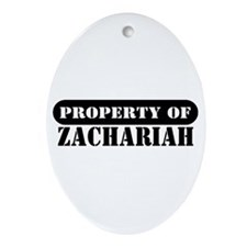 Property of Zachariah Oval Ornament