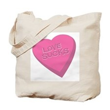 Love Sucks Valentine Tote Bag