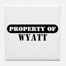 Property of Wyatt Tile Coaster