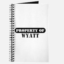 Property of Wyatt Journal