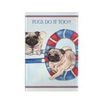 Agility Chinese Pugs Rectangle Magnet (100 pack)
