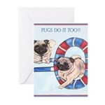 Agility Chinese Pugs Greeting Cards (Pk of 10)