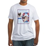 Agility Chinese Pugs Fitted T-Shirt