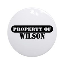 Property of Wilson Ornament (Round)