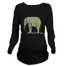 Cute Elephant Long Sleeve Maternity T-Shirt