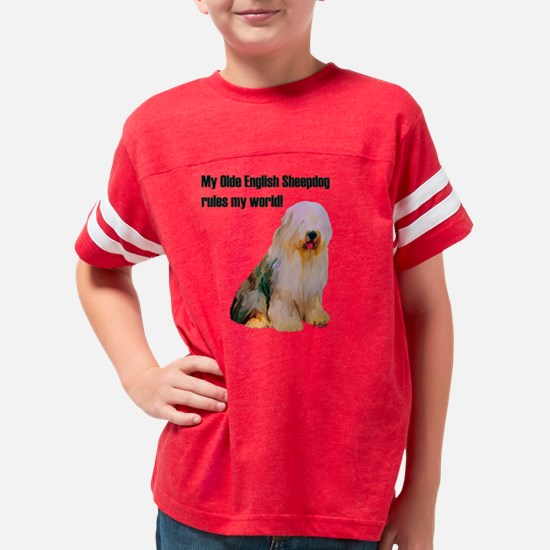 olde english sheepdog dark Youth Football Shirt
