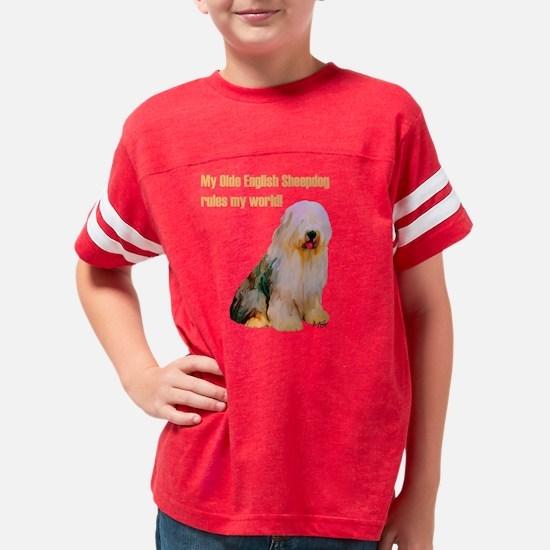 olde english sheepdog light Youth Football Shirt