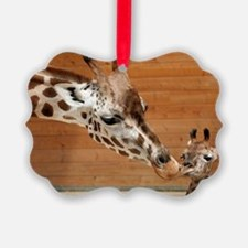 Kissing giraffes Ornament