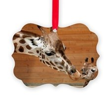 Kissing giraffes Picture Ornament
