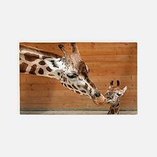 Kissing giraffes 3'x5' Area Rug