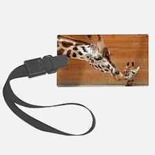 Kissing giraffes Luggage Tag